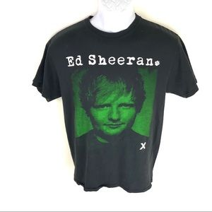 Ed Sheeran Men's 2015 Black T-Shirt M